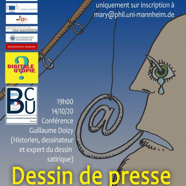 Conférence en ligne de Guillaume Doizy : Dessin de presse & Internet