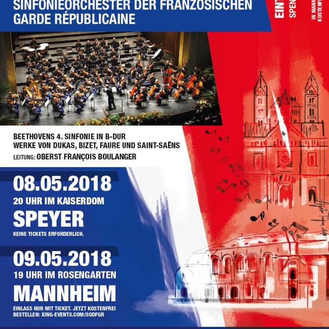 Deutschland – Premiere des Sinfonieorchesters der Garde Républicaine (in Mannheim)