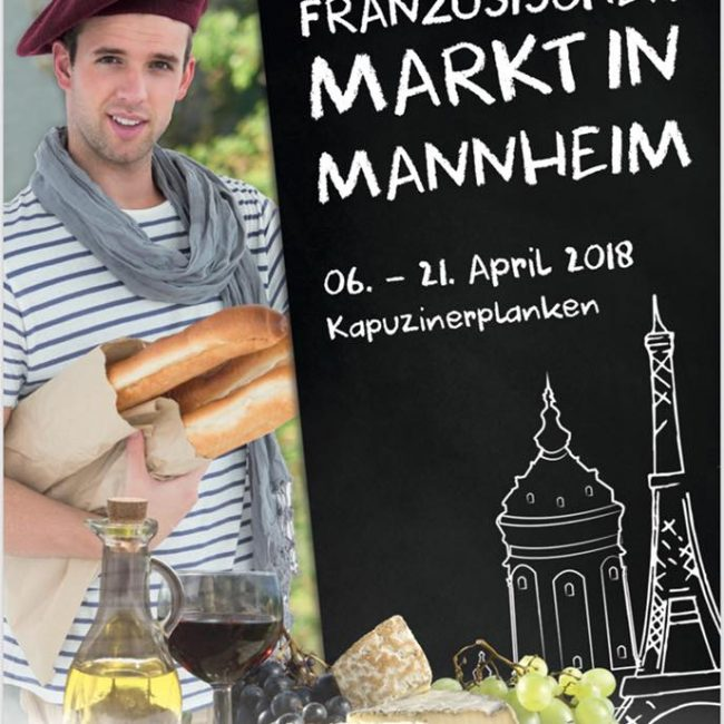 Französischer Markt in Mannheim
