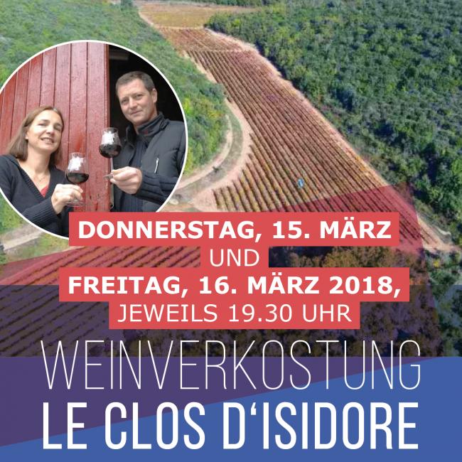 Dégustation de vin : Le clos d'Isidore