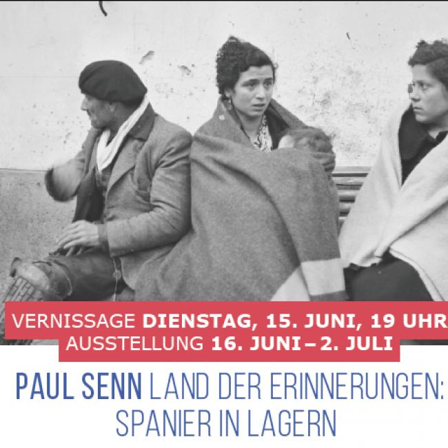 AUSSTELLUNG von PAUL SENN: SPANIER IN LAGERN