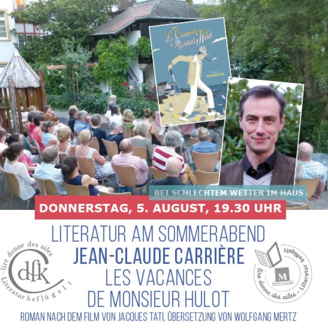 LITERATUR AM SOMMERABEND: JEAN CLAUDE CARRIÈRE – LES VACANCES DE MONSIEUR HULOT