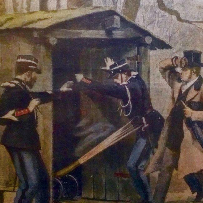 Die Gendarmerie zu der Zeit der Belle Epoque aus der Sicht vom Petit Journal