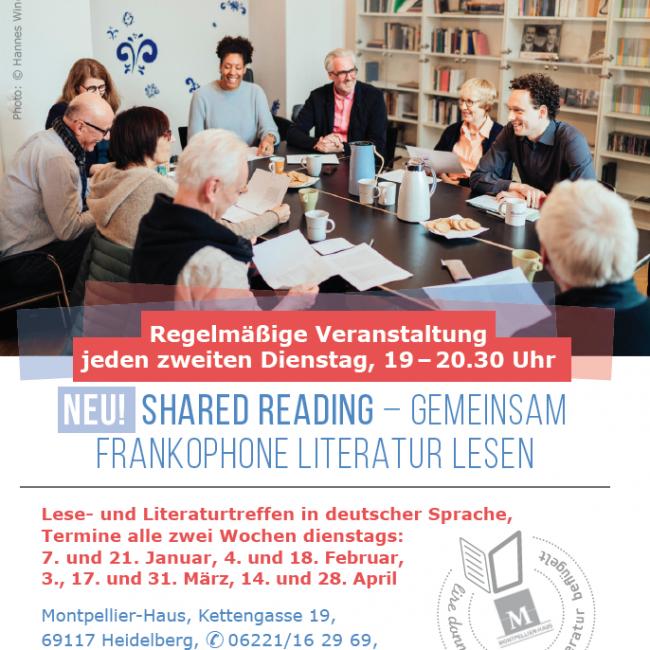 Shared Reading: gemeinsam frankophone Literatur lesen